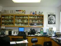 Waukegan Hutchins building interior lab cabinets
