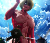 The Female Titan in action