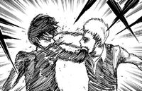 Jean and Eren fight