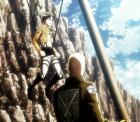 Eren becomes a soldier