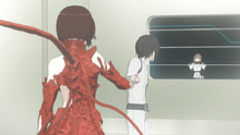 Placenta Shizuka mimic the movements performed by Nagate