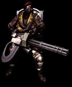 Gatling gun majini