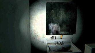 Lisa in the bathroom.