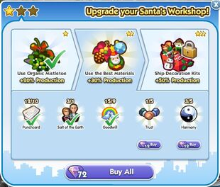 Santa's Workshop Upgrade 2 Unlock
