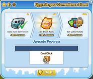 Business convenience store upgrade 2 process