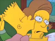 Bart kisses the teacher