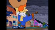 Lard Lad Kicks A Dog Into The Air