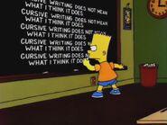 Bart's Comet Chalkboard Gag