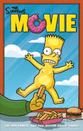 The Simpsons Movie Bart on the window of Krusty Burger Naked Poster