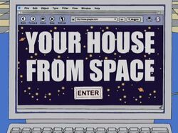 You house from space