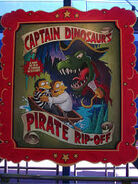The Simpsons Ride Captain Dinosaur's Pirate Rip-Off