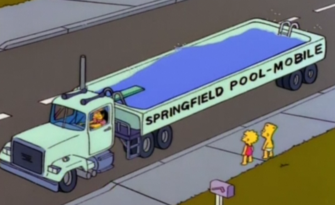 Springfield pool mobile simpsons wiki fandom powered for Otto swimmingpool