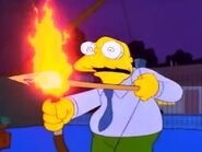Moleman bow flaming arrow