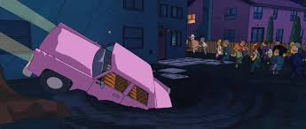 File:The Simpsons Movie SinkHole swallowing up the Simpsons' Family Sedan.jpg