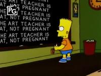 The art teacher is fat, not pregnant