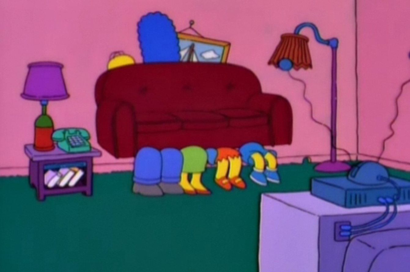 The Simpsons Family Couch