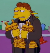 Nelson at Homer's Funeral