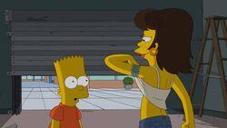 Bart sees boobs