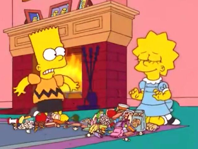 File:Bart as Charlie Brown and Lisa as Lucy van Pelt.jpg