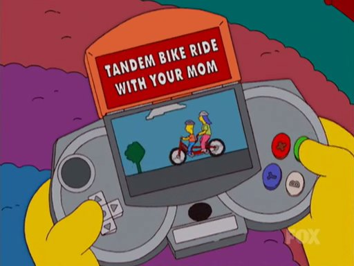 tandem bike ride with your mom simpsons wiki fandom powered by