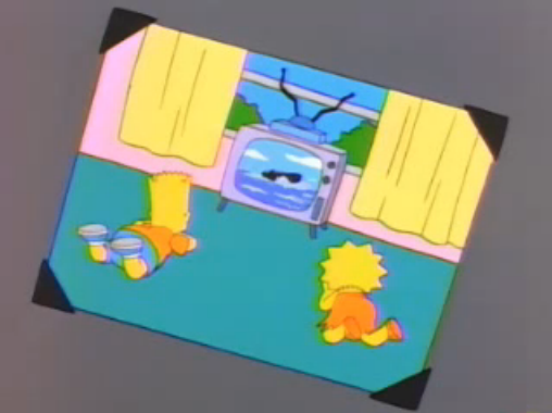 File:Bart and Lisa a bit younger in a photo in And Maggie Makes Three.png