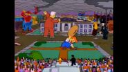 The Statues And Mascots Are Destroying The Town As Paul Anka And Lisa Are Singing