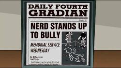 Nerd stands up