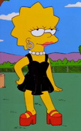 Lisa in Black Dress