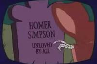 Homer's gravestone