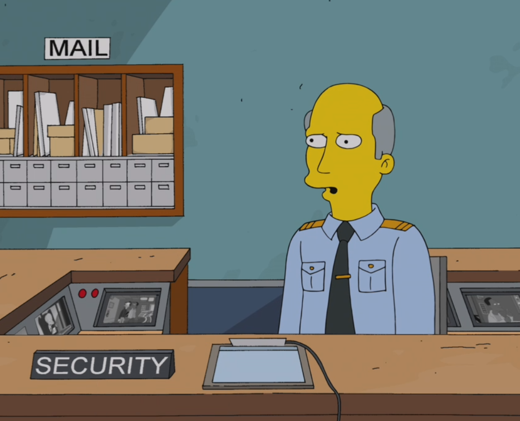 Springfield Nuclear Power Plant Security Guard | Simpsons Wiki ...