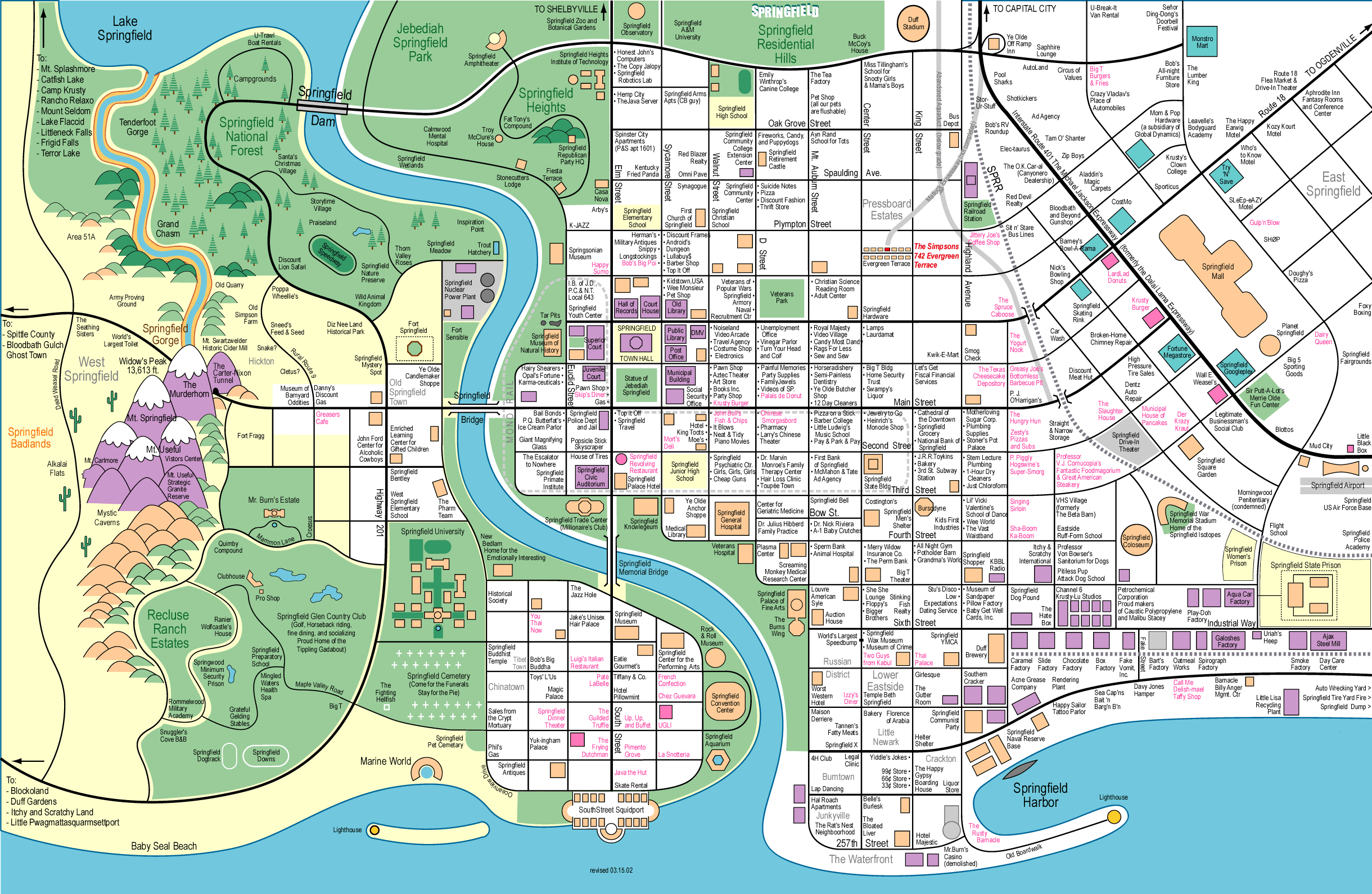Request How Much Would The Dome On The Simpsons Movie Cost - Simpons us map vs real voters map