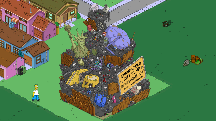 Springfield Dump The Simpsons Tapped Out Wiki Fandom