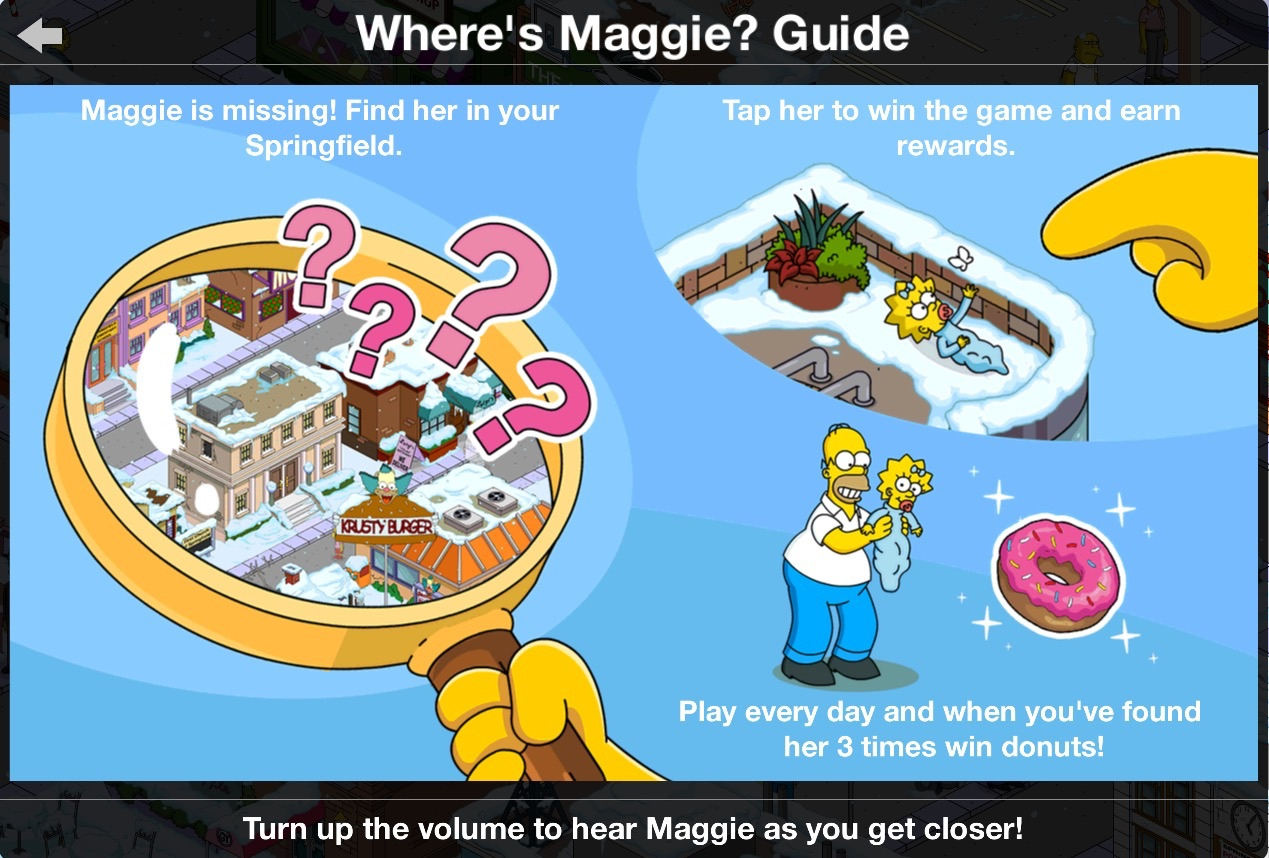 Where's Maggie?  The Simpsons: Tapped Out Wiki  Fandom Powered By Wikia