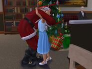 Santa hugging Lucy Burb