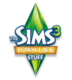 The Sims 3 Town Life Stuff Logo