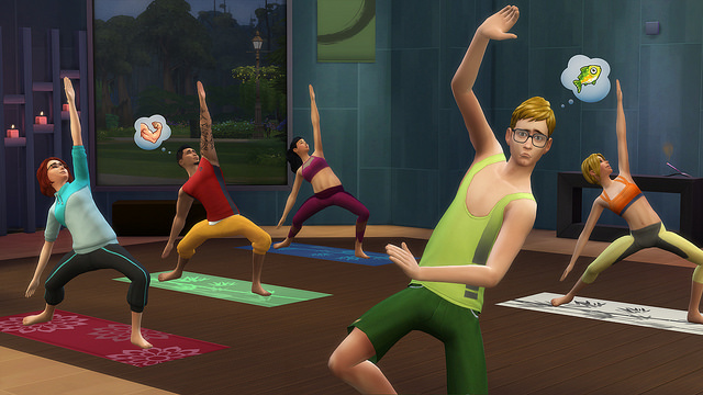 TS4 Spa Day yoga