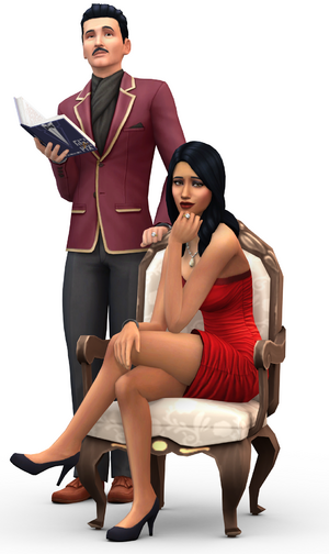 Mortimer and Bella Goth in The Sims 4