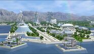 Oasis landing town