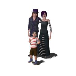 Goth Family (The Sims 3)
