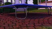 A bat under trampoline