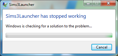 File:Sims3Launcher stopped working.png
