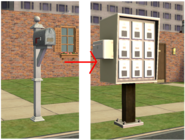 Ts2 custom apartment gg - apartment mailbox transformation