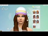 Caucasian woman head view