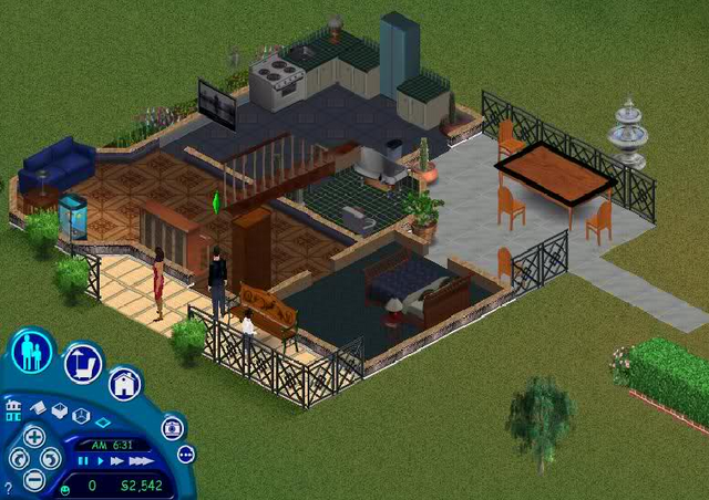 File:Goth home The Sims 1 first floor.png