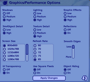 The Sims 2 Graphics-Performance Options