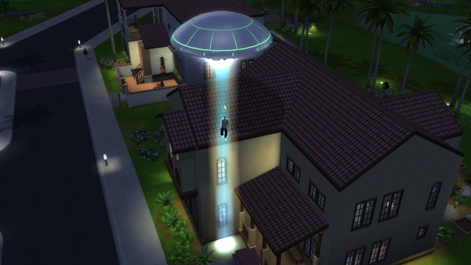 TS4 alien abduction