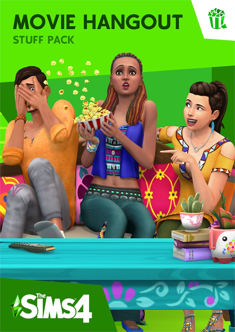 The Sims 4 Movie Hangout Stuff Cover