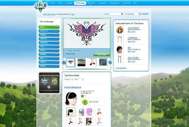 File:Website sims 3 exchange.jpg