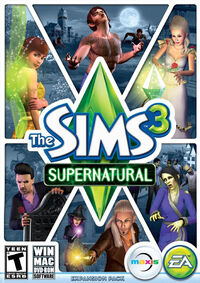 The Sims 3 Supernatural Cover