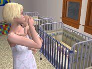 Sandy McDooglewurtz in the nursery